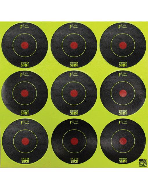 "Splatter Shot Targets 2"" Peel & Stick"
