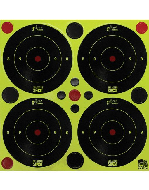 "Splatter Shot Targets 3"" Peel & Stick"